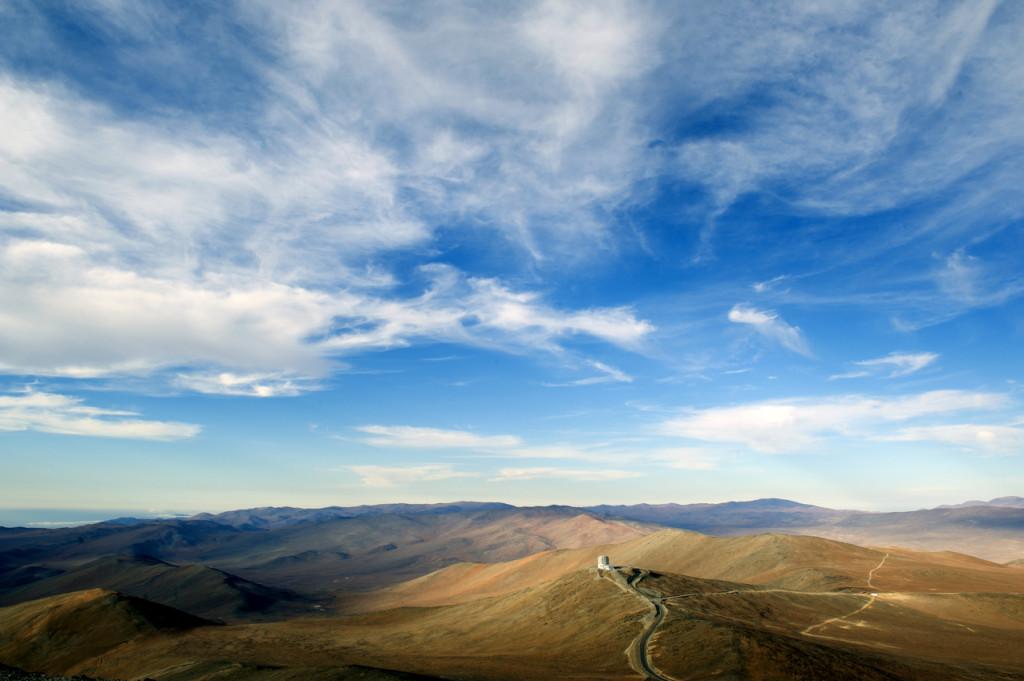 Vue sur les montagnes de Paranal