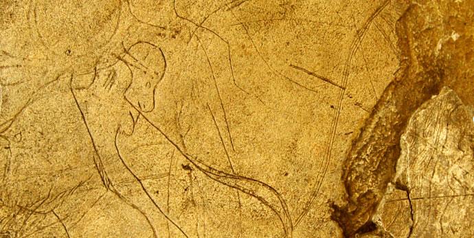 Paléontologie : Galets gravés de La Colombière