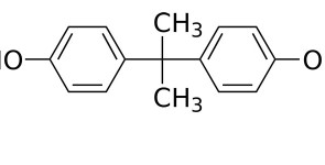 «Bisphenol A» par Calvero. — Selfmade with ChemDraw.. Sous licence Domaine public via Wikimedia Commons - http://commons.wikimedia.org/wiki/File:Bisphenol_A.svg#mediaviewer/File:Bisphenol_A.svg