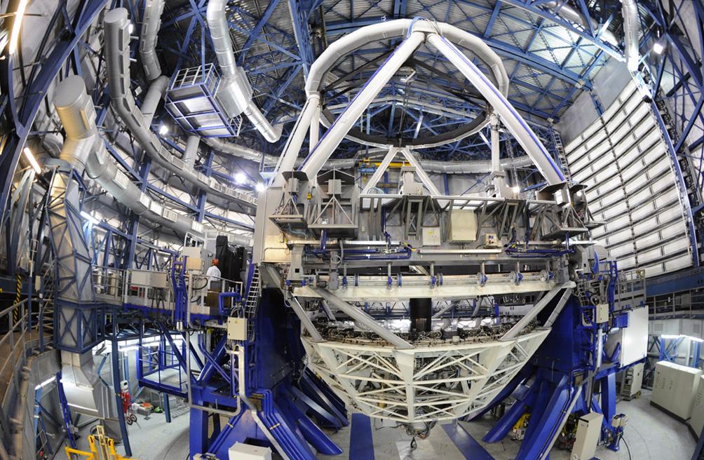 Intérieur du télescope