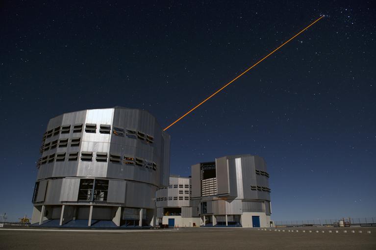 Tir au laser sur Orion