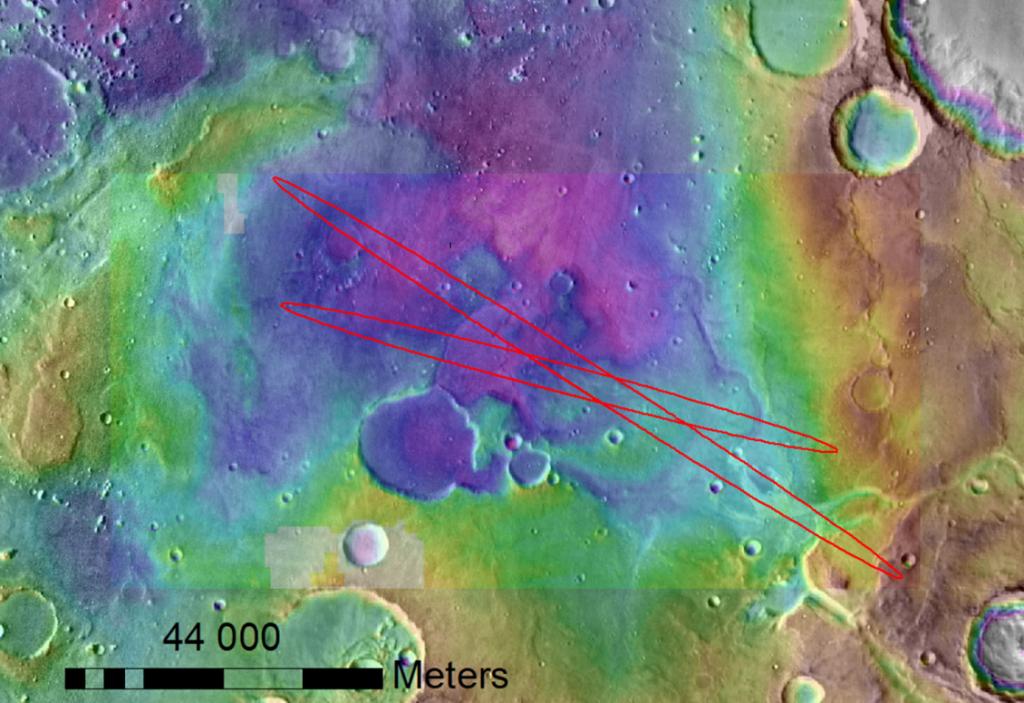 La plaine martienne Oxia Planum